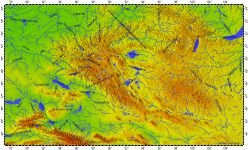 Altai Montains, topography