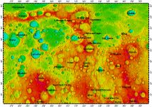 H-02 Victoria quadrangle of Mercury, topography