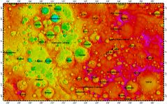 H-06 Kuiper quadrangle of Mercury, topography