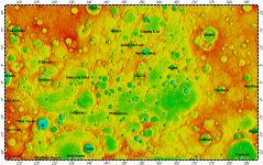 H-07 Beethoven quadrangle of Mercury, topography