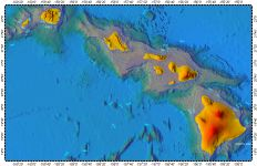 Hawaii, topography with bathymetry