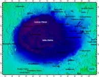 Hellas Planitia on Mars, topography