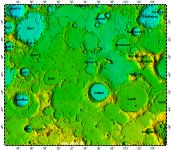 LAC-116 Mare Australe quadrangle of Moon, topography
