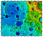 LAC-121 Apollo quadrangle of Moon, topography