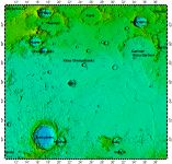 LAC-13 Aristoteles quadrangle of Moon, topography