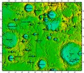 LAC-28 Gauss quadrangle of Moon, topography