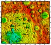 LAC-50 Fitzgerald quadrangle of Moon, topography