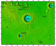 LAC-58 Copernicus quadrangle of Moon, topography