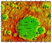 LAC-66 Mendeleev quadrangle of Moon, topography