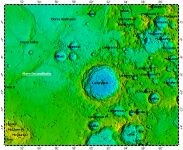 LAC-80 Langrenus quadrangle of Moon, topography