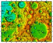 LAC-82 Pasteur quadrangle of Moon, topography