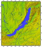Lake Baikal, topography