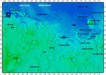 MC-23 Aeolis quadrangle of Mars, topography
