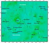 MC-29 Eridania quadrangle of Mars, topography