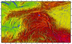 Pamir Mountains, topography