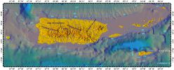 Puerto-Rico, topography with bathymetry