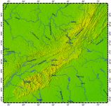 South Appalachians, topography