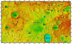 Suisei Planitia on Mercury, topography