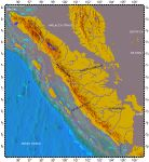 Sumatra, topography with bathymetry