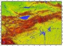 Tian Shan Mountains, topography