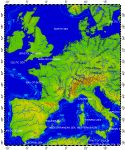 West Europe, topography